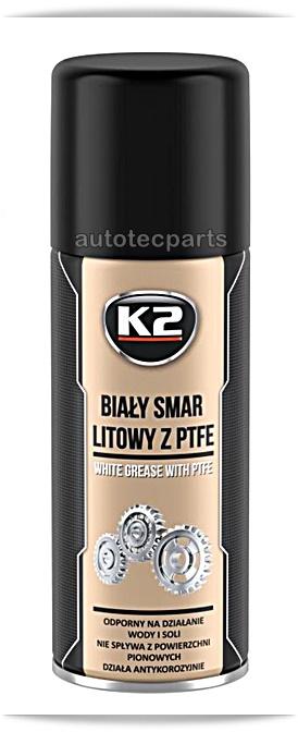 K2 WHITE GREASE PTFE Γράσο Λευκό 400 ml - Χημικά & Πρόσθετα στο Autotec Δούμας
