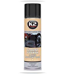 K2 BLACK GLOSSY Βαφή Μαύρη Γυαλιστερή Spray 500 ML - Λιπαντικά & Χημικά στο Autotec Δούμας